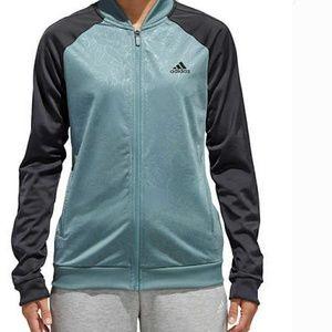 adidas Womens Embossed Print Track Jacket